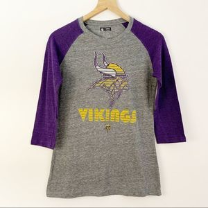 NFL Team Apparel Minnesota Vikings Football Tee